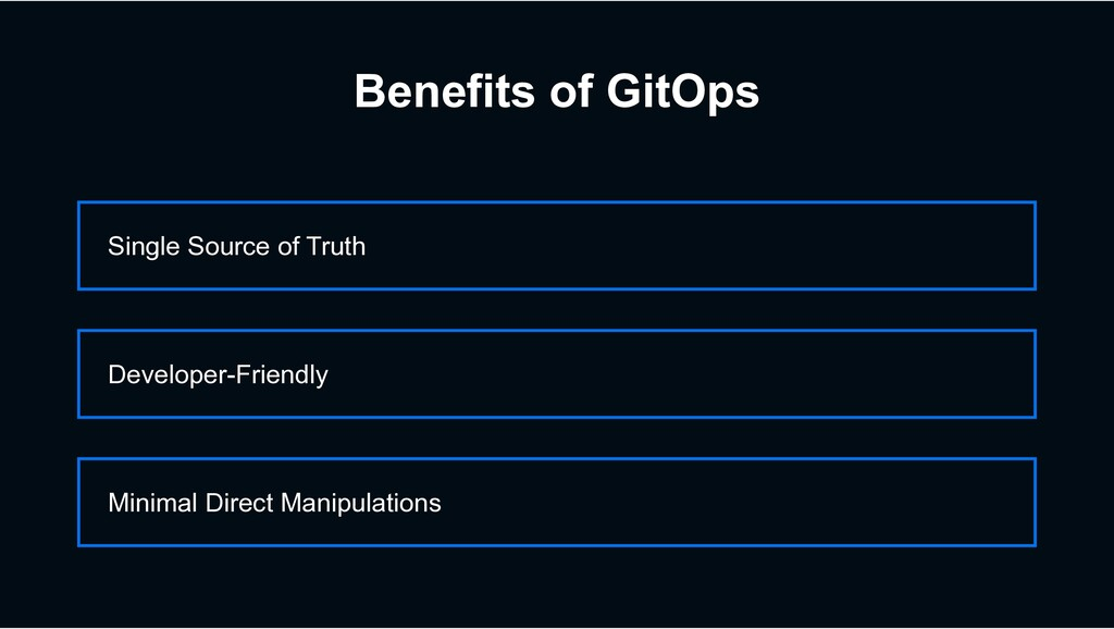 Benefits of GitOps Single Source of Truth Minim...