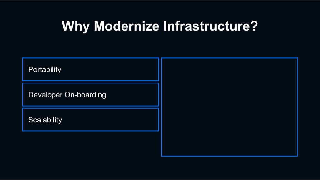 Why Modernize Infrastructure? Scalability Devel...