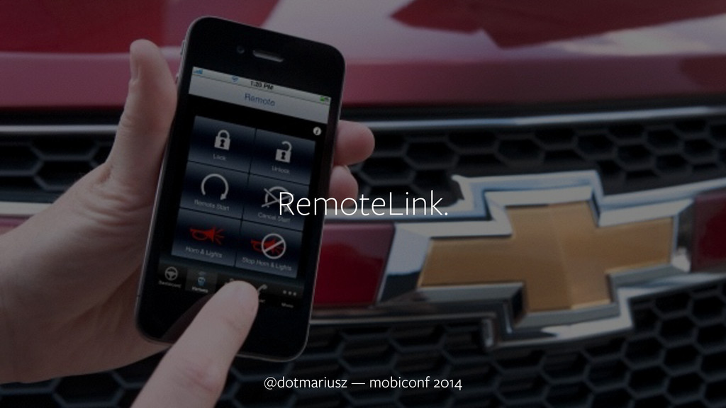 ` @dotmariusz — mobiconf 2014 RemoteLink.