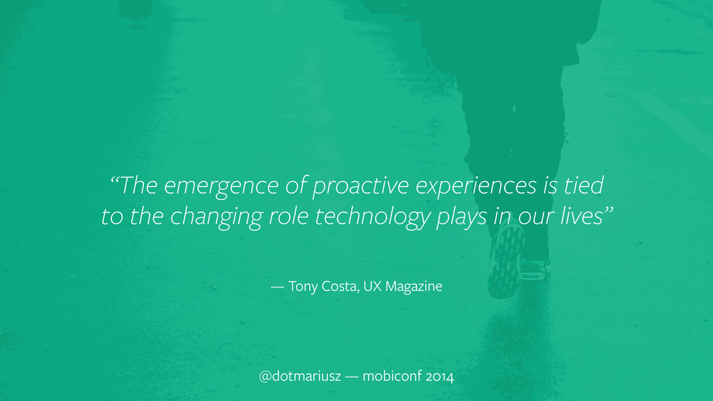 "@dotmariusz — mobiconf 2014 ""The emergence of p..."