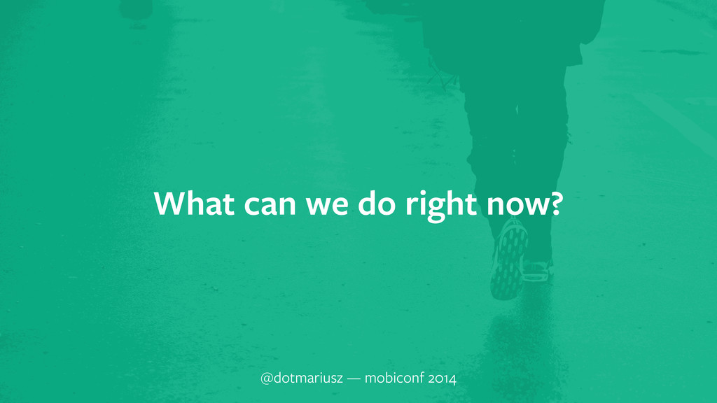 ` What can we do right now? @dotmariusz — mobic...
