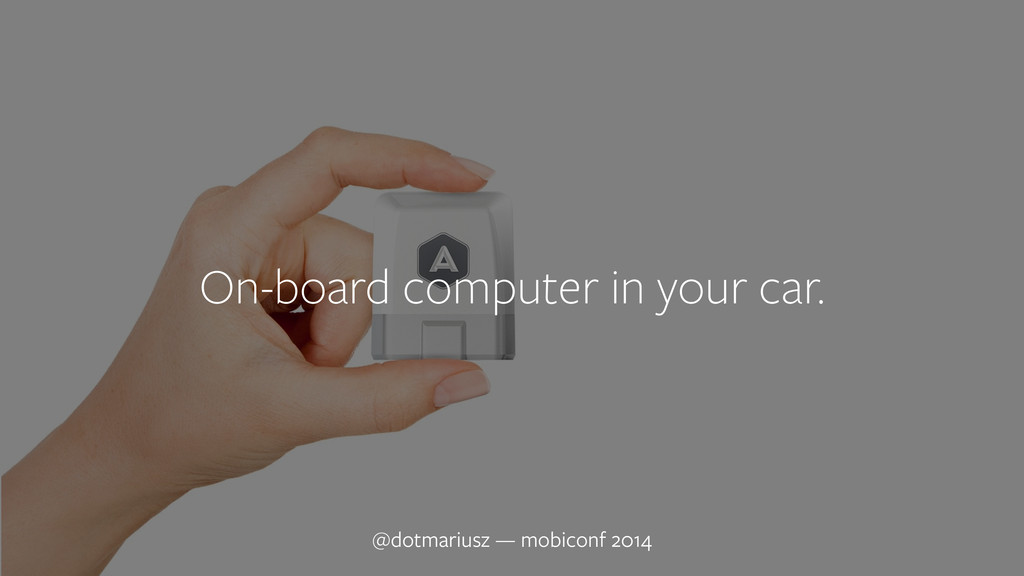 ` On-board computer in your car. @dotmariusz — ...