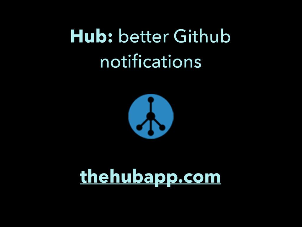 thehubapp.com Hub: better Github notifications