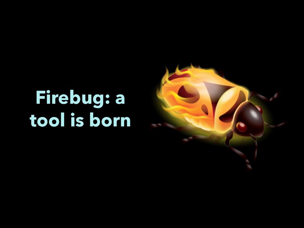 Firebug: a tool is born