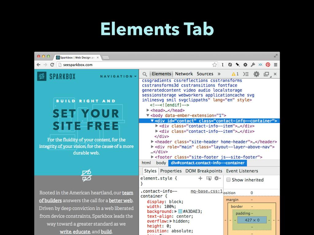 Elements Tab