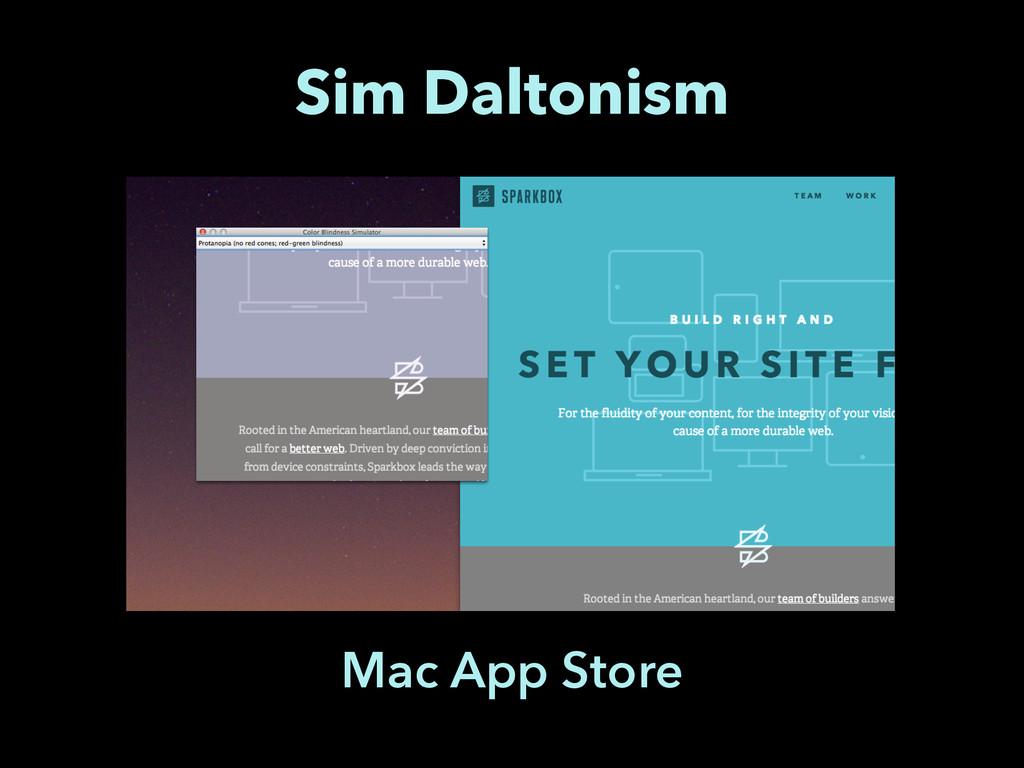 Sim Daltonism Mac App Store