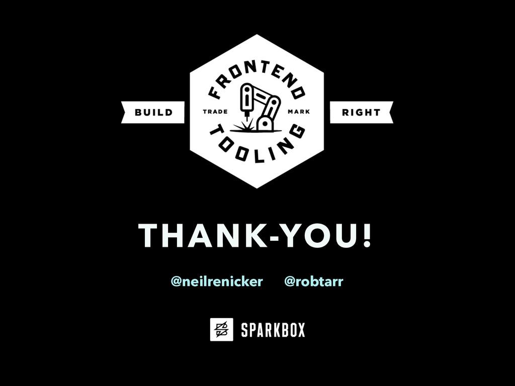 THANK-YOU! @neilrenicker @robtarr