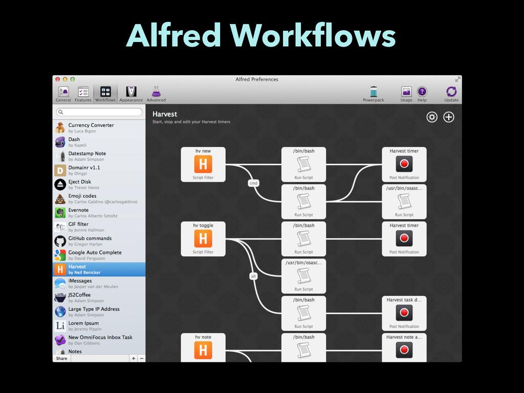 Alfred Workflows