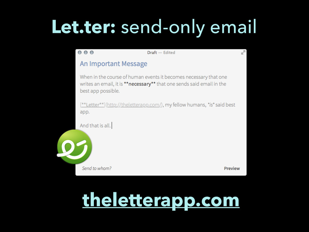 theletterapp.com Let.ter: send-only email
