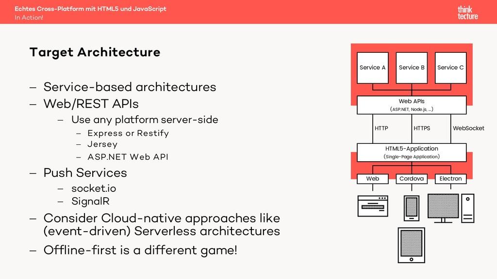 - Service-based architectures - Web/REST APIs -...