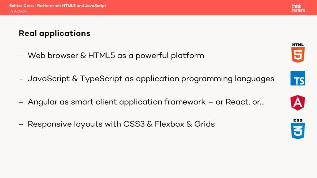 - Web browser & HTML5 as a powerful platform - ...
