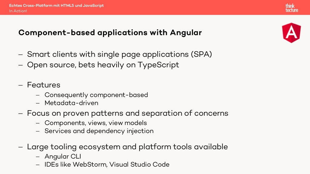 - Smart clients with single page applications (...