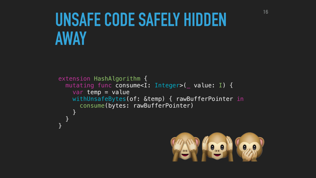 UNSAFE CODE SAFELY HIDDEN AWAY extension HashAl...