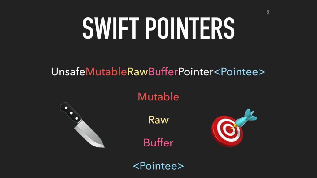 SWIFT POINTERS UnsafeMutableRawBufferPointer<Po...