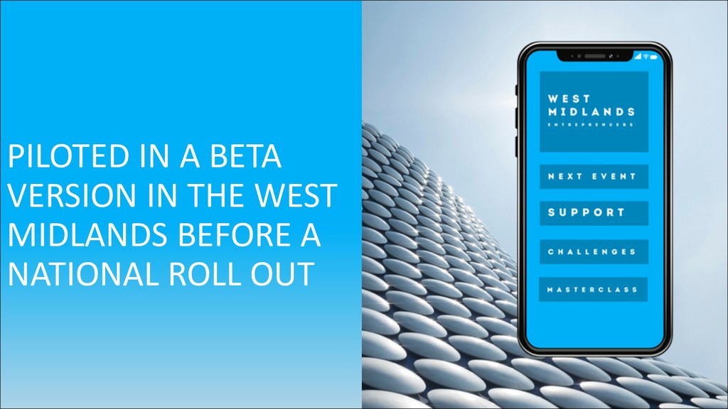 PILOTED IN A BETA VERSION IN THE WEST MIDLANDS ...