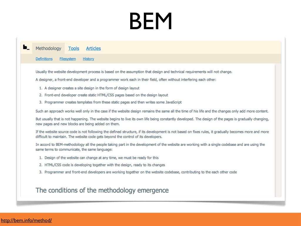 http://bem.info/method/ BEM