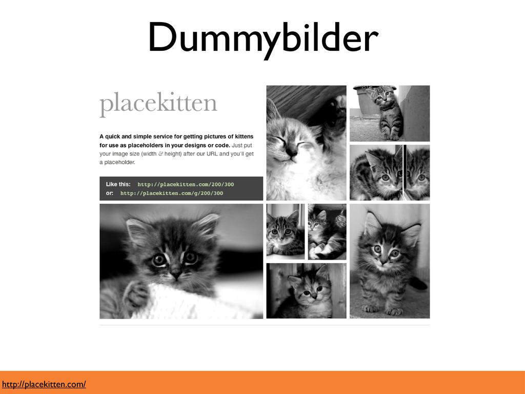 Dummybilder http://placekitten.com/