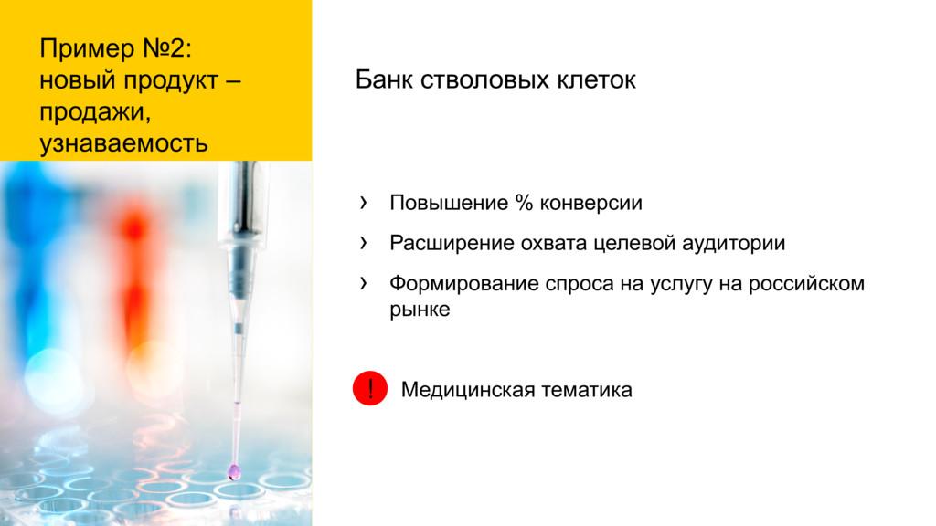 Пример №2: новый продукт – продажи, узнаваемост...