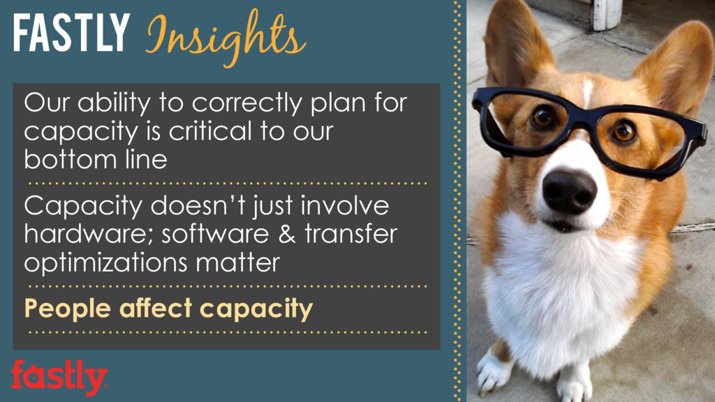 Fastly Insights Our ability to correctly plan f...