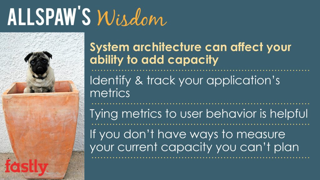 Allspaw's Wisdom System architecture can affect...
