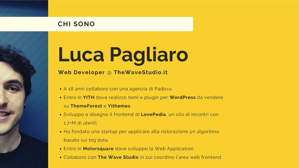 Luca Pagliaro Web Developer @ TheWaveStudio.it ...