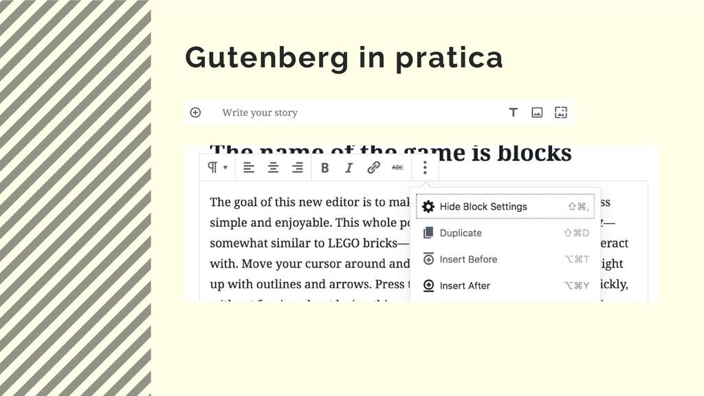 Gutenberg in pratica