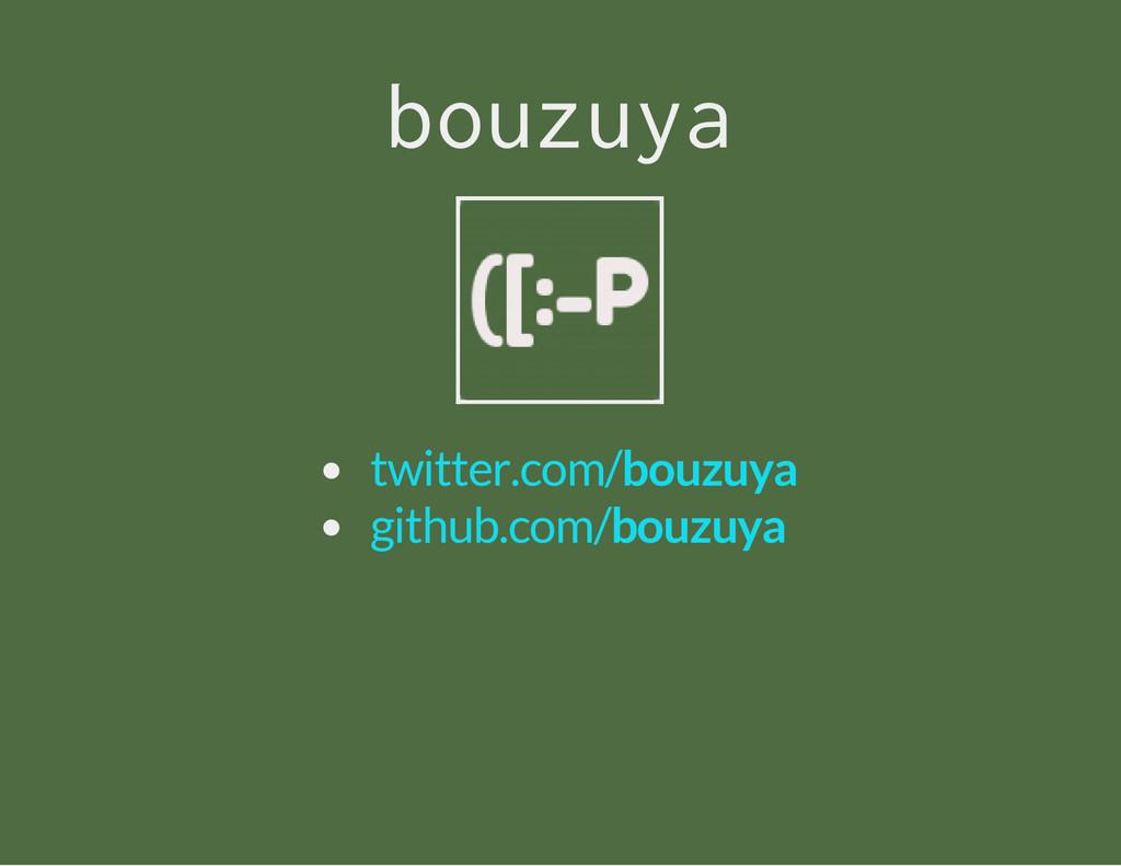 bouzuya twitter.com/bouzuya github.com/bouzuya