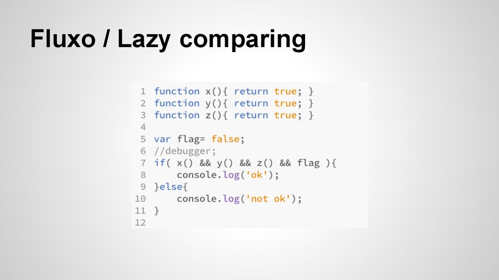 Fluxo / Lazy comparing