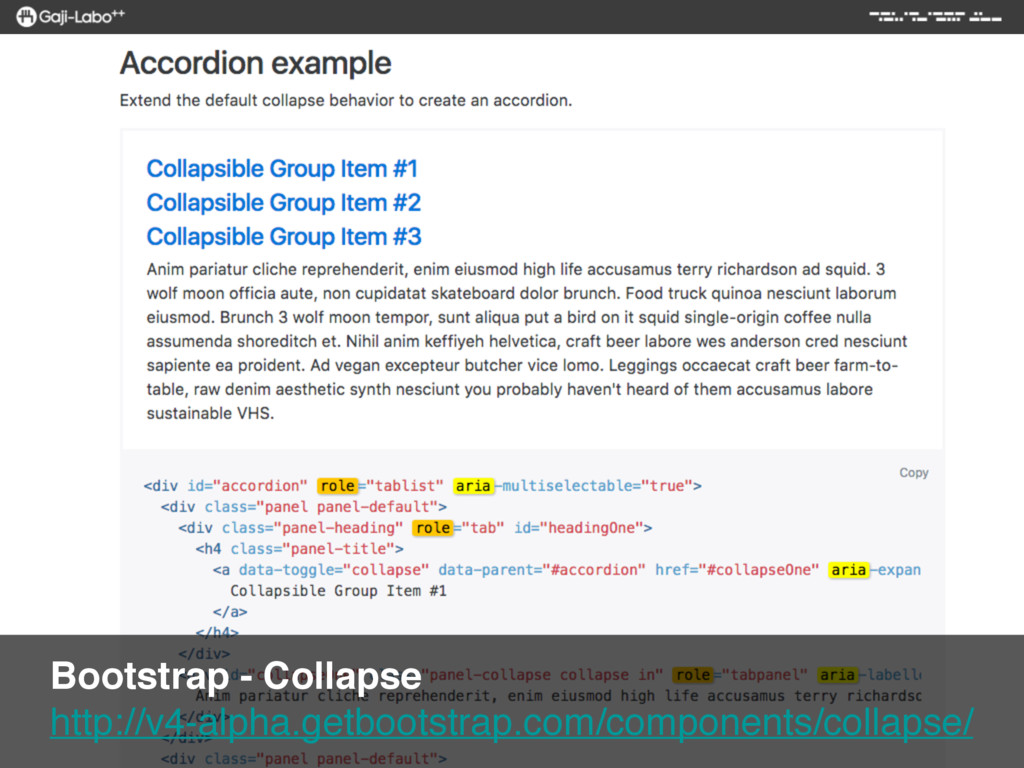 Bootstrap - Collapse http://v4-alpha.getbootst...