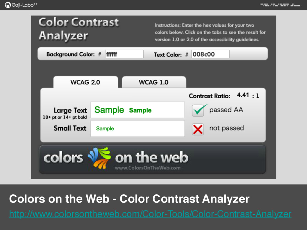 Colors on the Web - Color Contrast Analyzer ht...