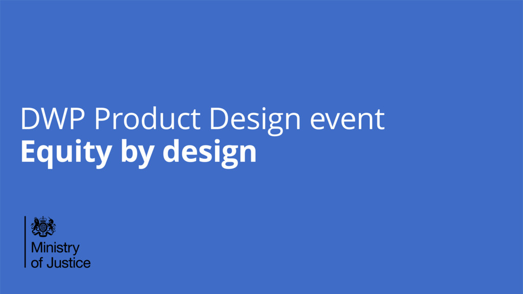 DWP Product Design event Equity by design