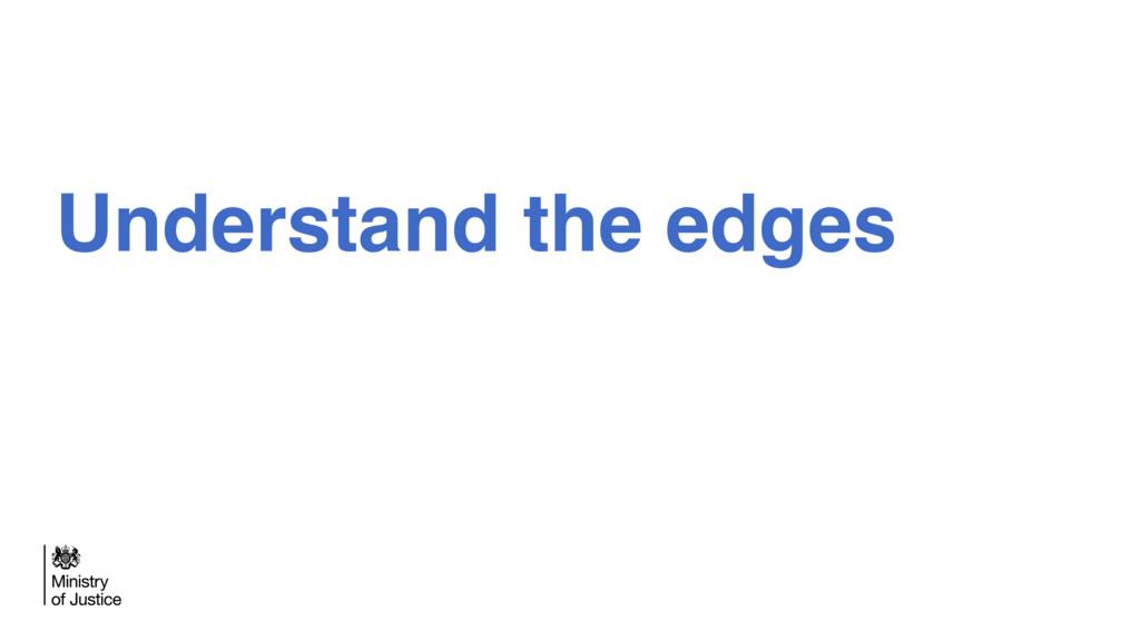 Understand the edges