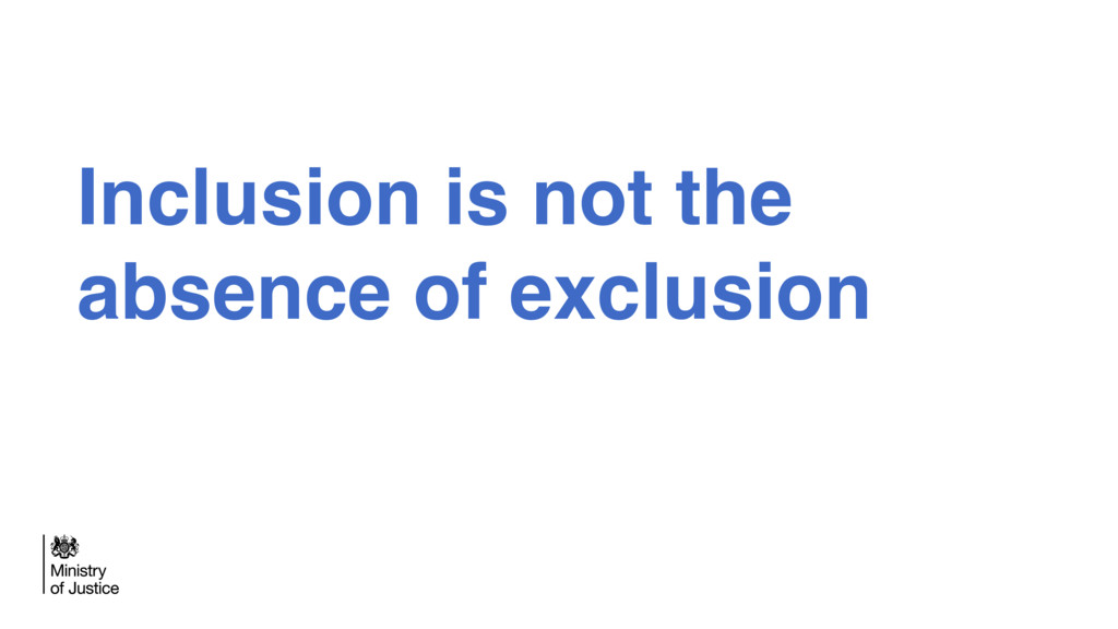 Inclusion is not the absence of exclusion
