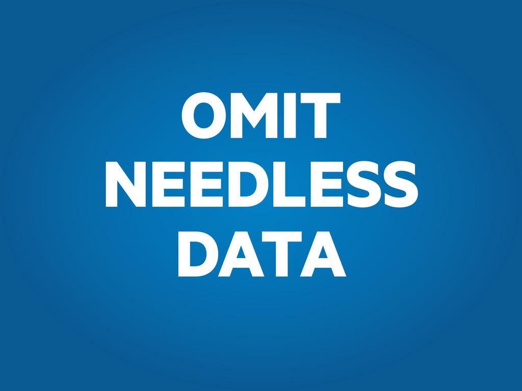 OMIT NEEDLESS DATA