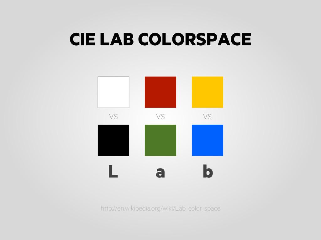 http://en.wikipedia.org/wiki/Lab_color_space vs...