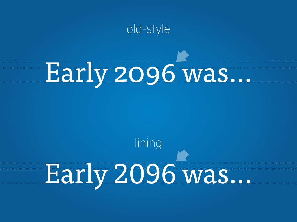 Early 2096 was… Early was… old-style lining