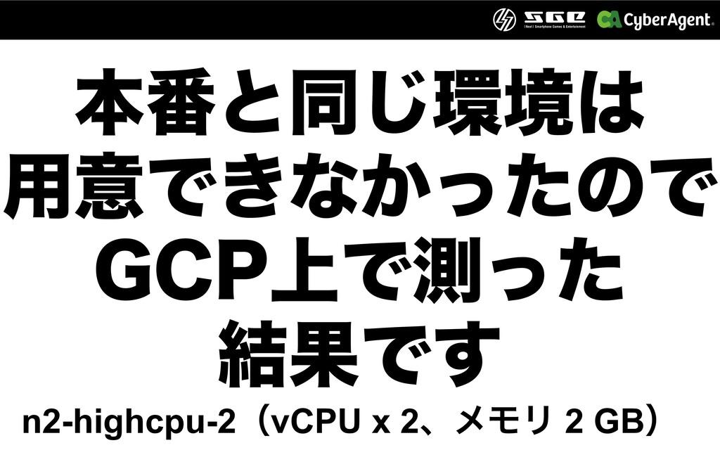 ຊ൪ͱಉ͡ڥ ༻ҙͰ͖ͳ͔ͬͨͷͰ ($1্Ͱଌͬͨ ݁ՌͰ͢ n2-highcpu...