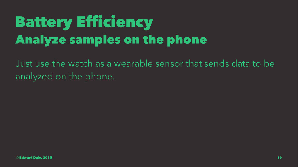 Battery Efficiency Analyze samples on the phone...