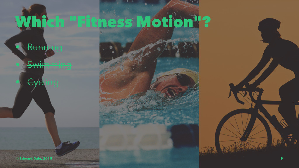 "Which ""Fitness Motion""? • Running • Swimming • ..."