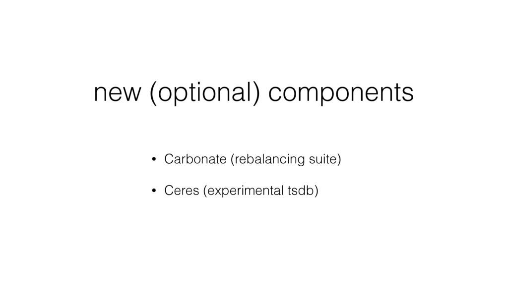 new (optional) components • Carbonate (rebalanc...