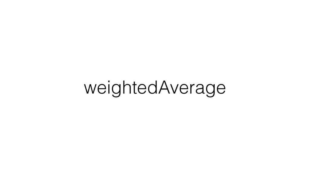 weightedAverage