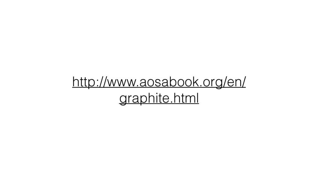 http://www.aosabook.org/en/ graphite.html