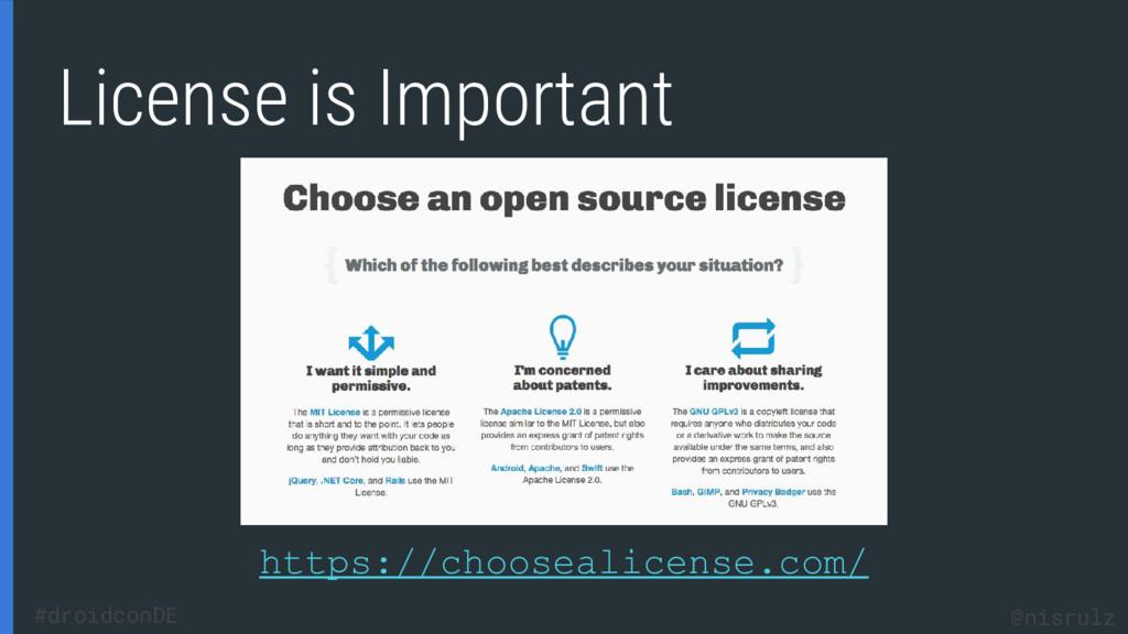 License is Important https://choosealicense.com...