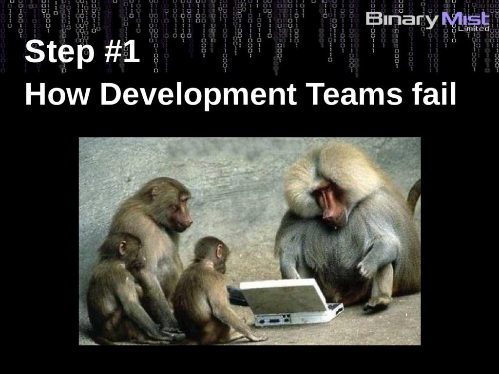 Step #1 How Development Teams fail