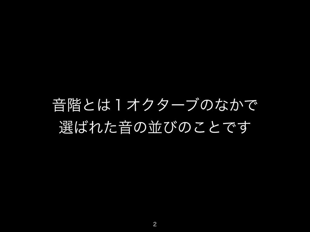 Ի֊ͱ̍ΦΫλʔϒͷͳ͔Ͱ બΕͨԻͷฒͼͷ͜ͱͰ͢