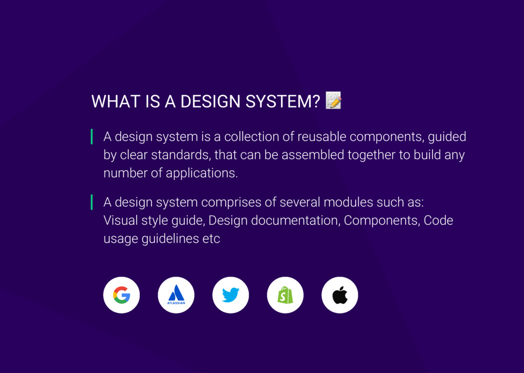 A design system comprises of several modules su...