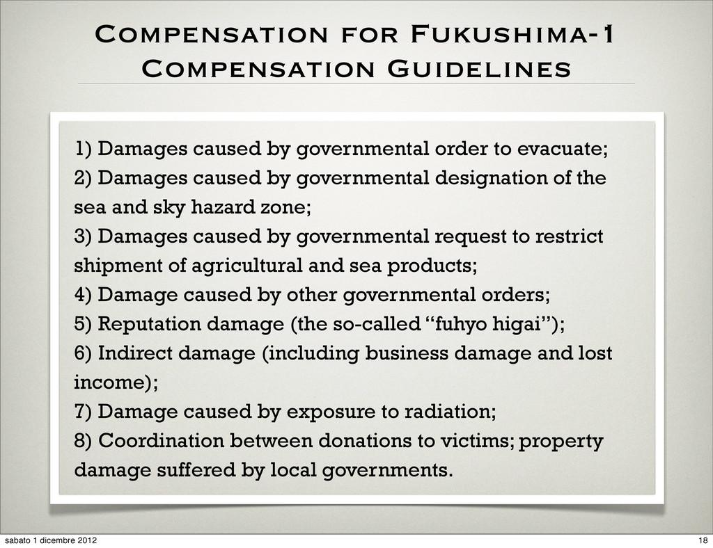Compensation for Fukushima-1 Compensation Guide...