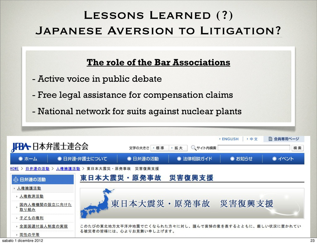 The role of the Bar Associations - Active voice...