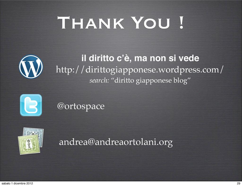 Thank You ! @ortospace il diritto c'è, ma non s...