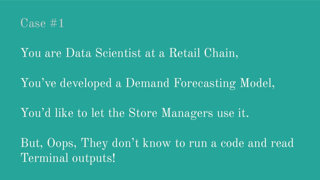 Case #1 You are Data Scientist at a Retail Chai...